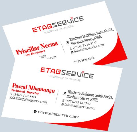 Etag Services Business Cards